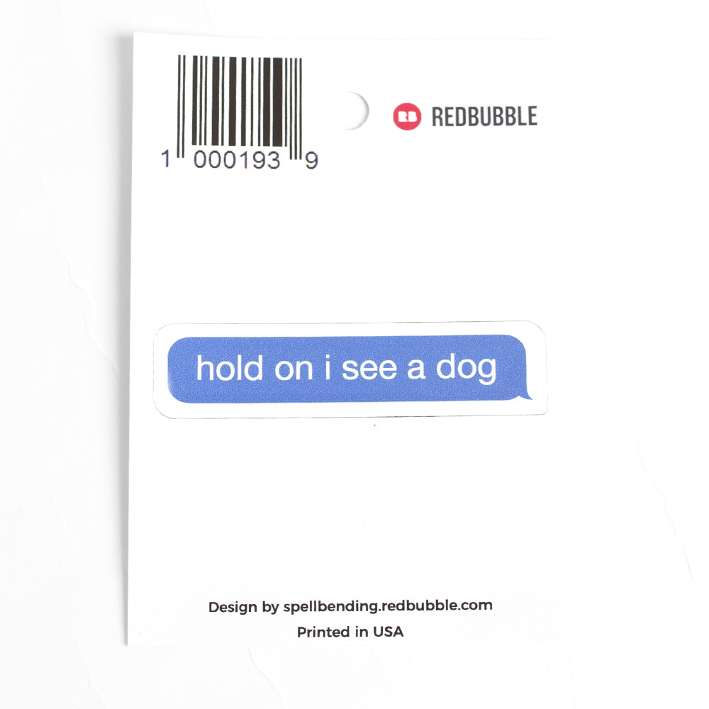 Redbubble, Sticker, Dog